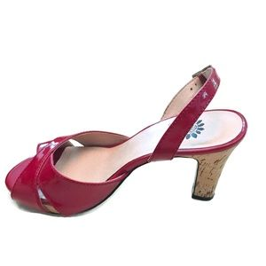 Cherry Red Faux Patent Leather by Yellow Box  6